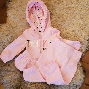 Tommy Hillfiger 12 months pink sweatsuit